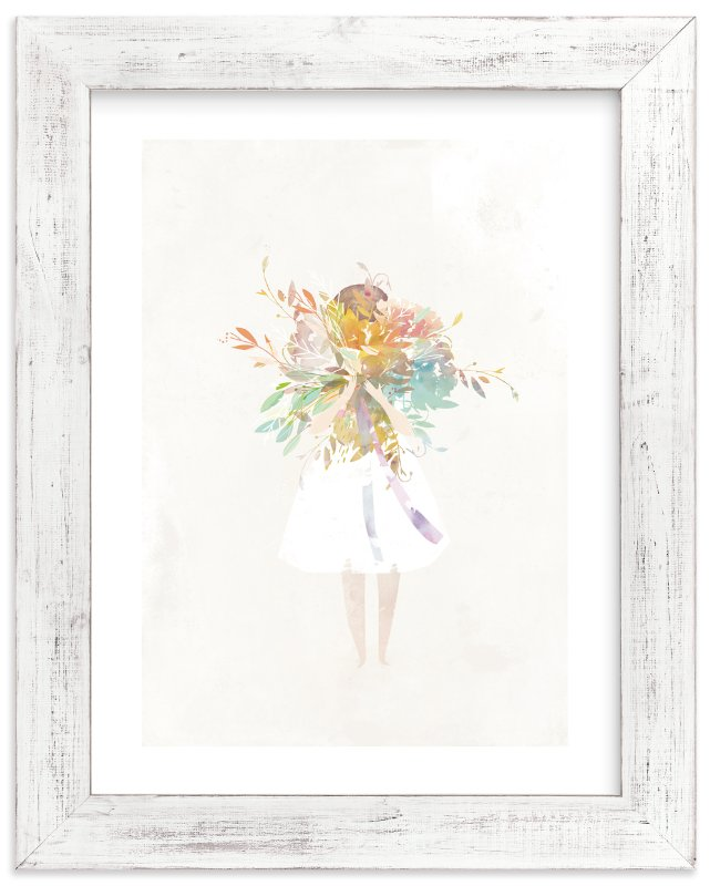 The Flower Girl Wall Art Prints by Lori Wemple | Minted