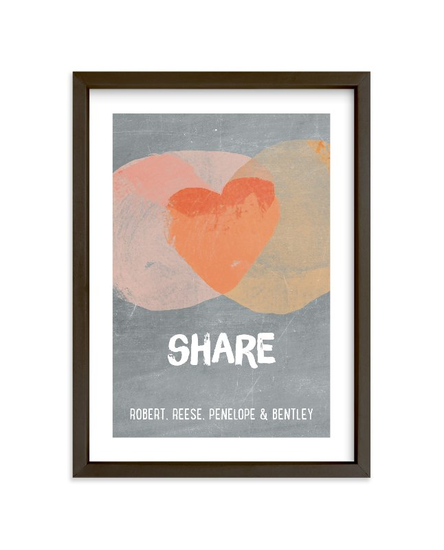 """Kindness Venn"" - Children's Custom Art Print by pandercraft in beautiful frame options and a variety of sizes."
