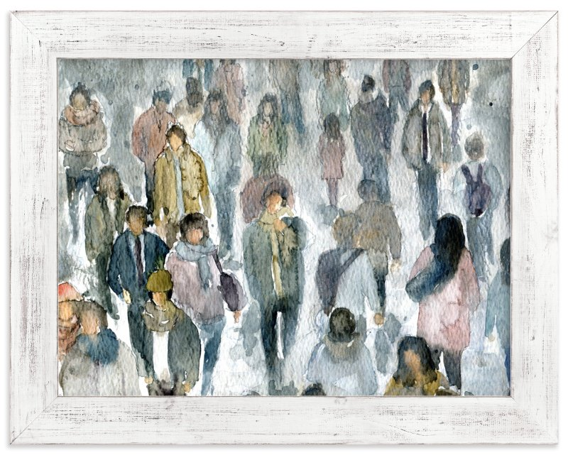 """Strangers II"" - Art Print by Lulaloo in beautiful frame options and a variety of sizes."