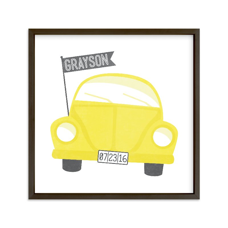 """""""Little Love Bug"""" - Children's Custom Art Print by Jessie Steury in beautiful frame options and a variety of sizes."""