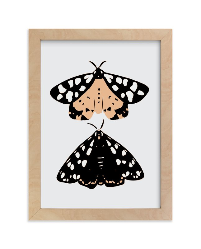 """On Moth's Wings"" - Limited Edition Art Print by Lauren Blair in beautiful frame options and a variety of sizes."