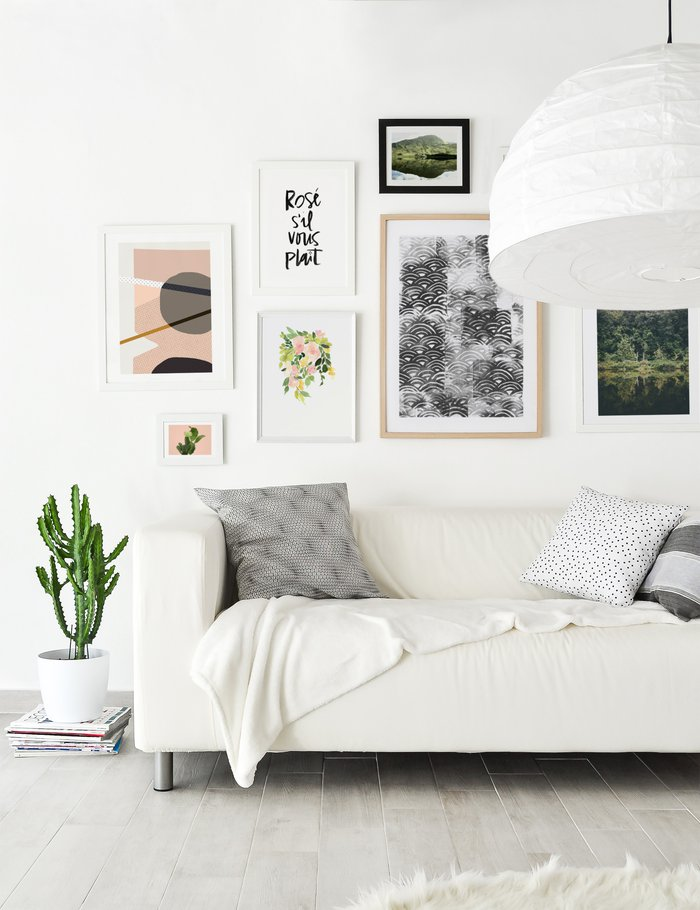tips to choosing art for your home - minimalist wall art gallery