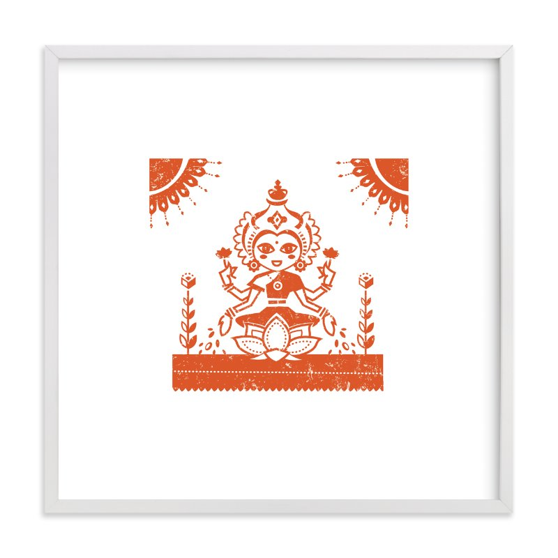 """Lakshmi"" - Art Print by Susie Allen in beautiful frame options and a variety of sizes."