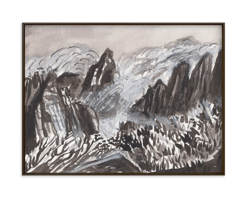 """""""Huangshan Mountains"""" - Art Print by June Chang in beautiful frame options and a variety of sizes."""