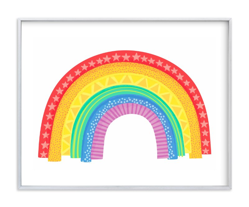 """""""Rad Rainbow"""" - Art Print by Jessie Steury in beautiful frame options and a variety of sizes."""