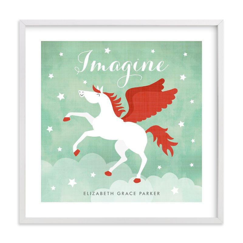 """Pegasus"" - Nursery Custom Art Print by Susan Asbill in beautiful frame options and a variety of sizes."