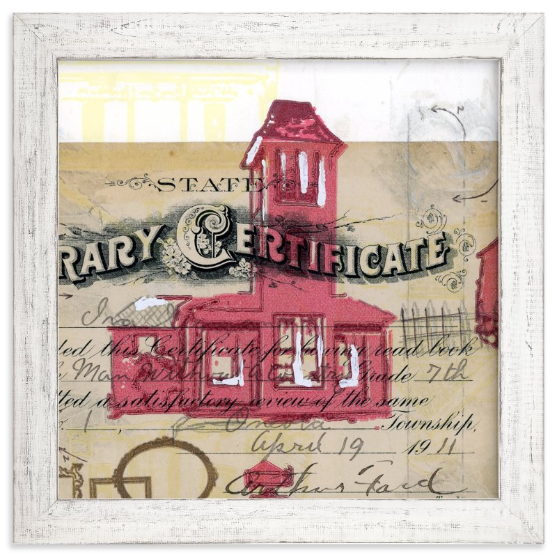 """Schoolhouse Rock No.4"" - Art Print by Kelly Maron Horvath in beautiful frame options and a variety of sizes."