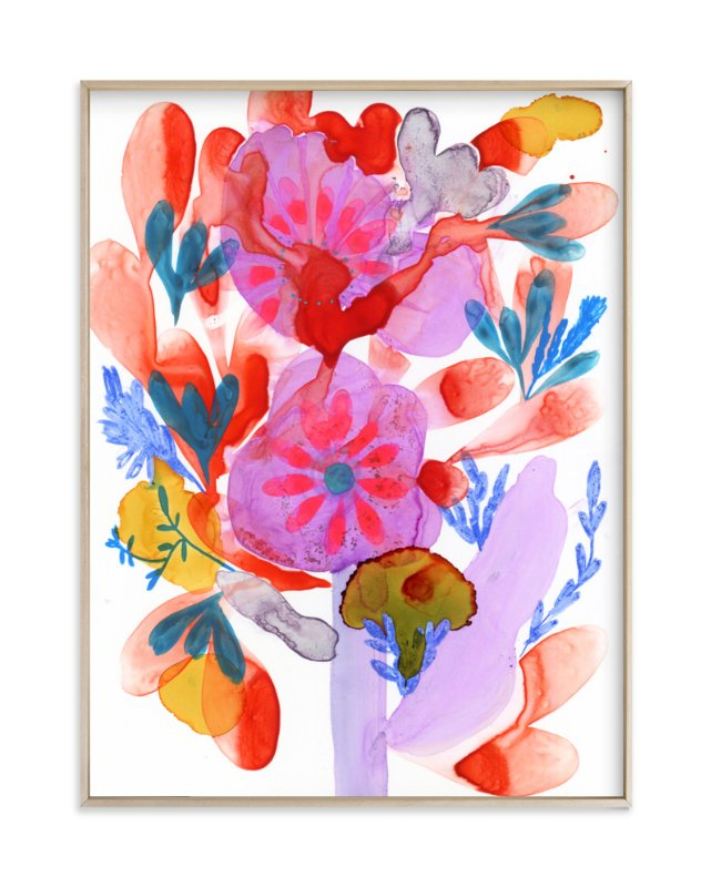 """Bright Boquet"" - Art Print by Anna Marie Farmer in beautiful frame options and a variety of sizes."