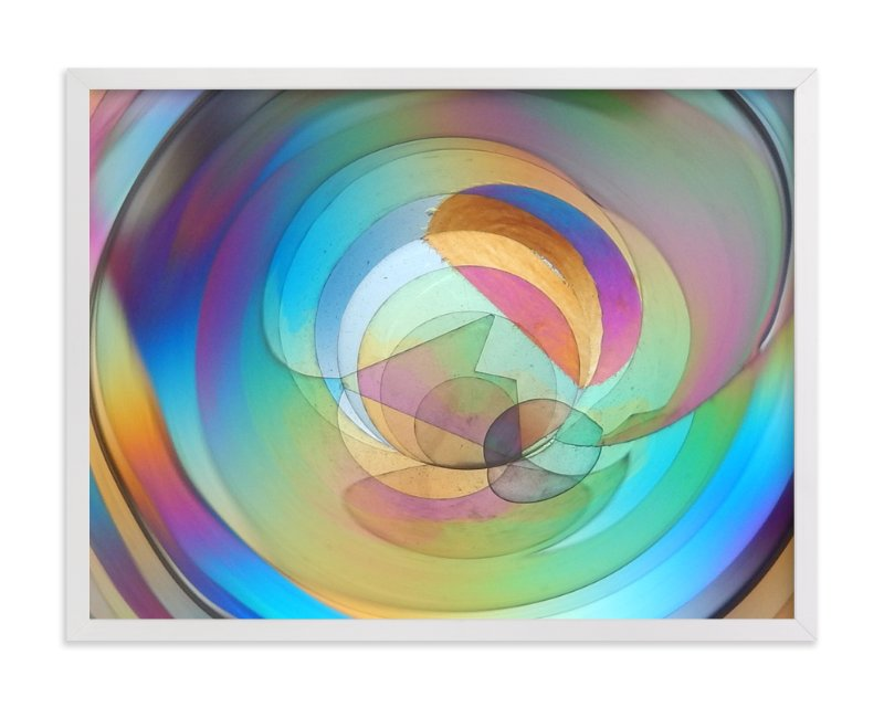 """Rainbow Prism 1"" - Art Print by Jan Kessel in beautiful frame options and a variety of sizes."