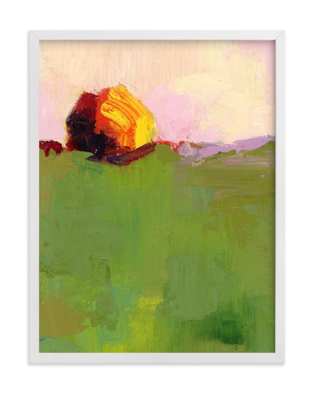 """Pasture"" - Art Print by sue prue in beautiful frame options and a variety of sizes."
