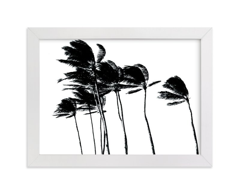 """""""Palm Trees in the Wind"""" - Art Print by Designkandy in beautiful frame options and a variety of sizes."""