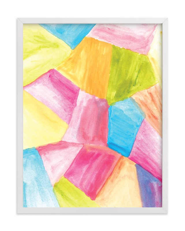 """rectangular shape watercolor"" - Art Print by aticnomar in beautiful frame options and a variety of sizes."
