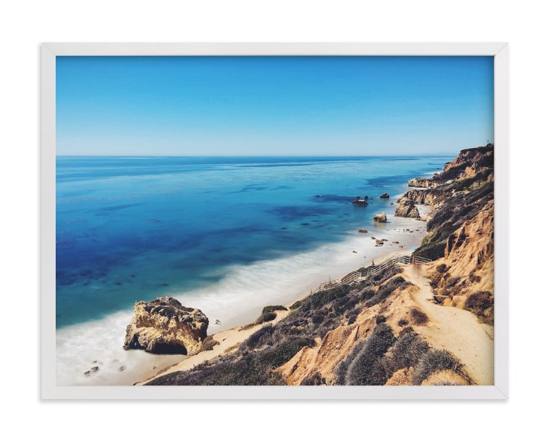 """""""California Coastline"""" - Art Print by Christian Florin in beautiful frame options and a variety of sizes."""