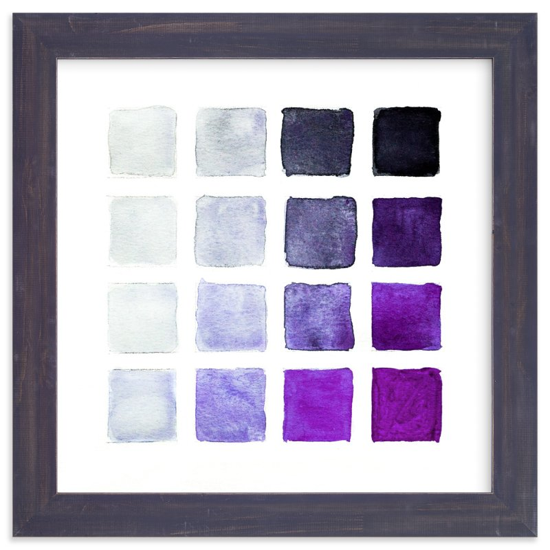 """Shades of Grape"" - Art Print by Stacy Kron in beautiful frame options and a variety of sizes."