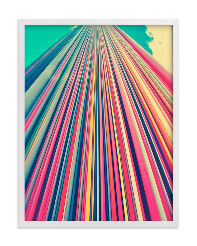 """""""Lines"""" - Art Print by Lucrecia in beautiful frame options and a variety of sizes."""