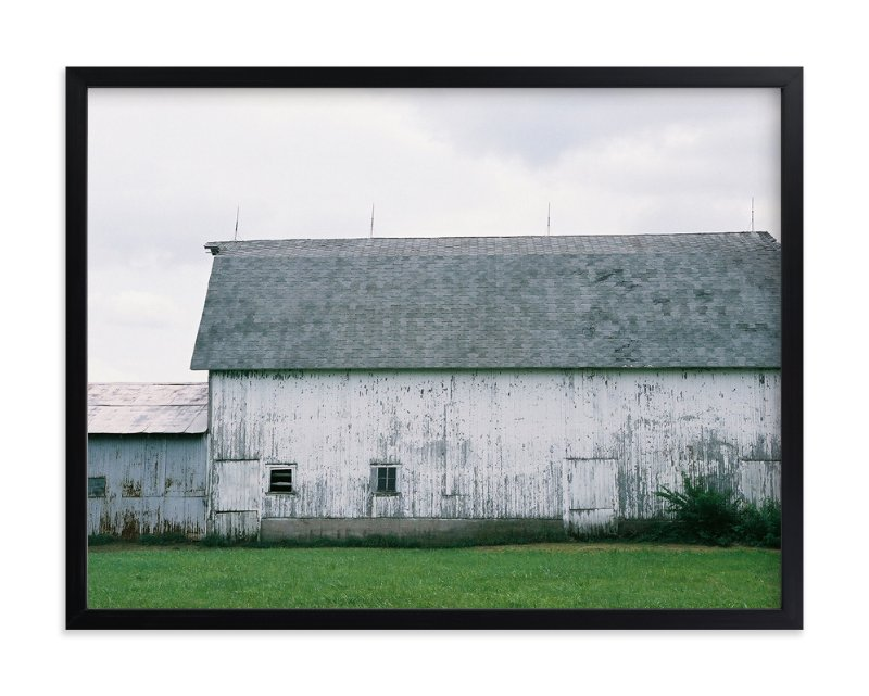 """""""Three Oaks Barn"""" - Art Print by LeeAnn Dougherty in beautiful frame options and a variety of sizes."""