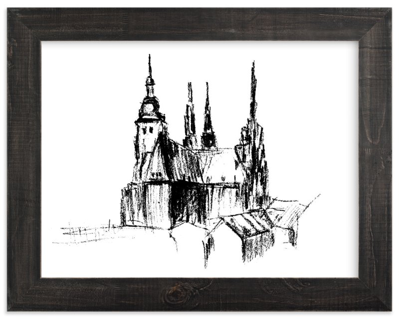 """""""Prague"""" - Art Print by Anastasia Makarova in beautiful frame options and a variety of sizes."""