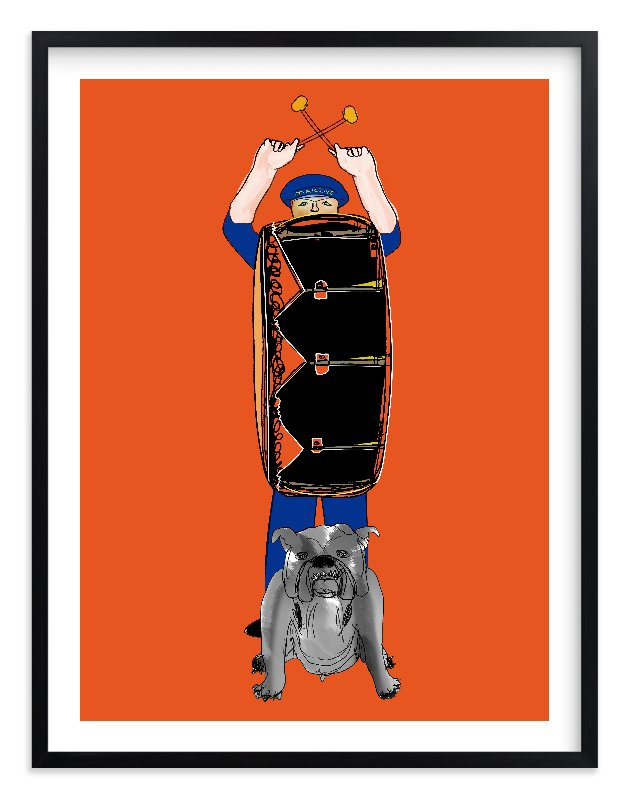 """Bang the Drum"" - Art Print by Stuart Heir in beautiful frame options and a variety of sizes."