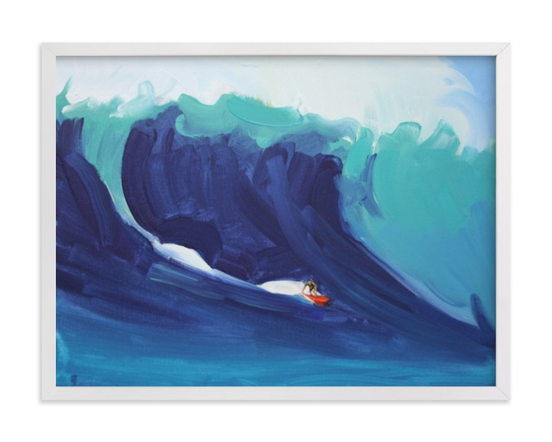 """Joel Surf 2"" - Art Print by Annie Seaton in beautiful frame options and a variety of sizes."