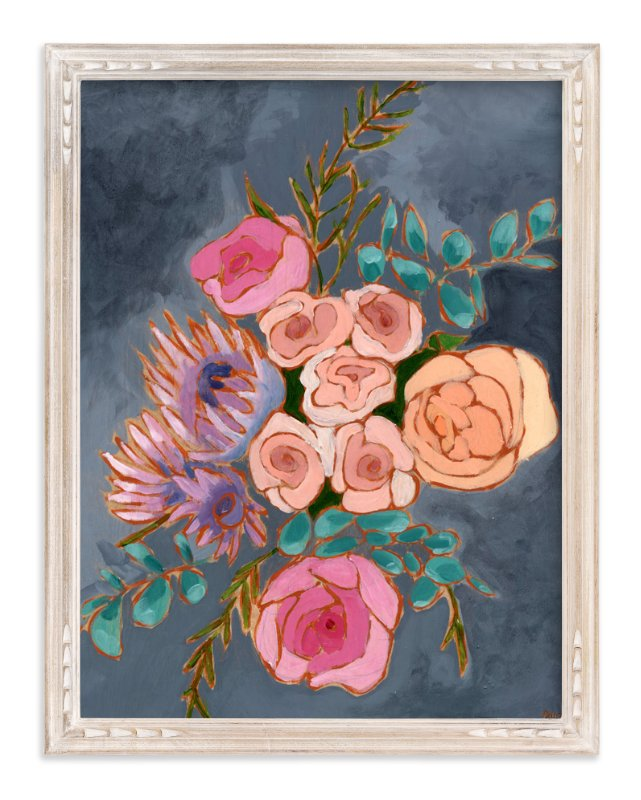"""A Bouquet for Kate floral"" - Art Print by Jennifer Allevato in beautiful frame options and a variety of sizes."