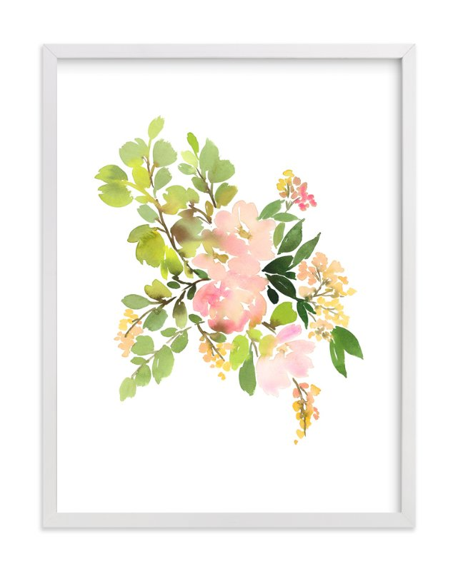 Flora in Peach Limited Edition Wall Art