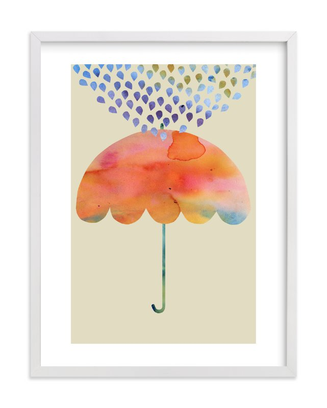 """""""Rainbow Umbrella"""" - Limited Edition Art Print by Kanika Mathur in beautiful frame options and a variety of sizes."""