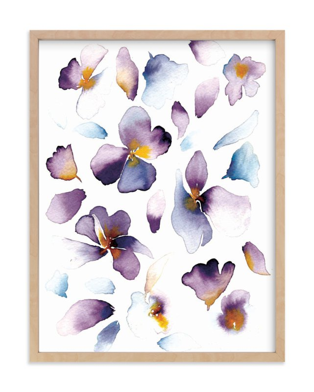 """""""purple flower"""" - Art Print by Tae Lee in beautiful frame options and a variety of sizes."""