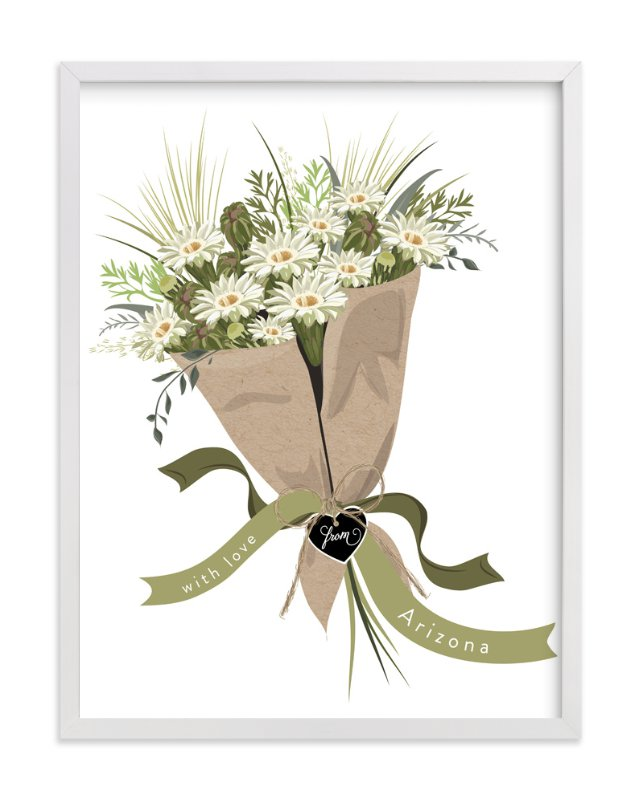 """Arizona Saguaro Bouquet"" - Art Print by Susan Moyal in beautiful frame options and a variety of sizes."