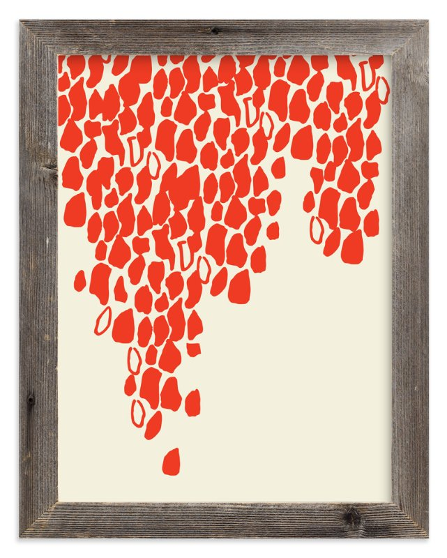 """""""It's Raining Red"""" - Art Print by Rose Lindo in beautiful frame options and a variety of sizes."""