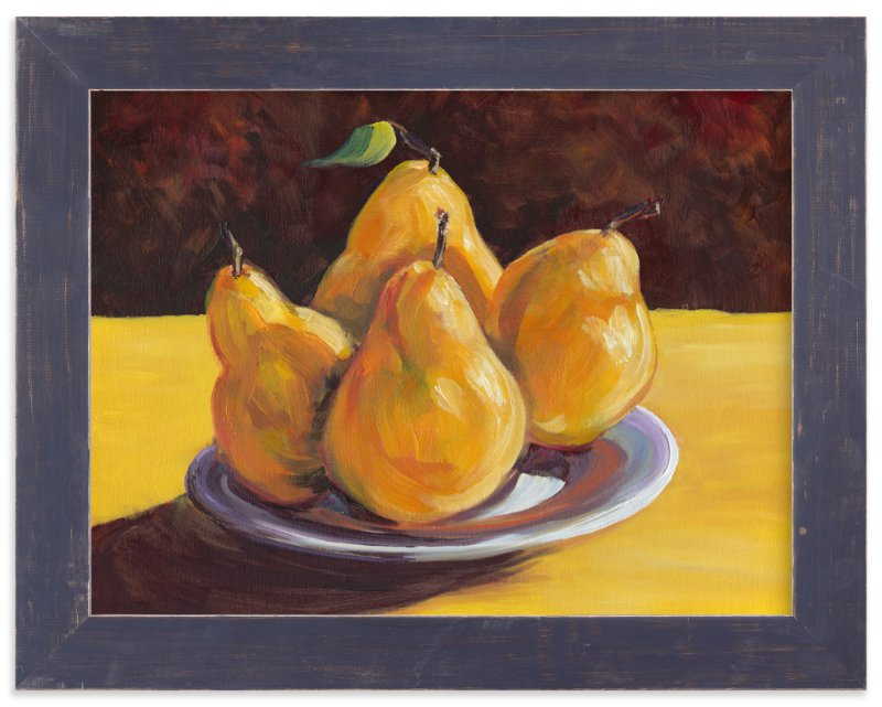 """First Pears"" - Art Print by Robert Deem in beautiful frame options and a variety of sizes."