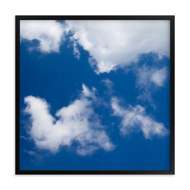 """""""Blue Sky with Clouds"""" - Art Print by Carol Schiraldi in beautiful frame options and a variety of sizes."""