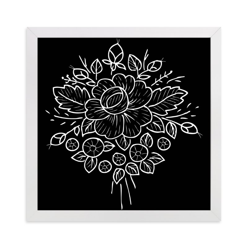 """botanical flower"" - Art Print by aticnomar in beautiful frame options and a variety of sizes."