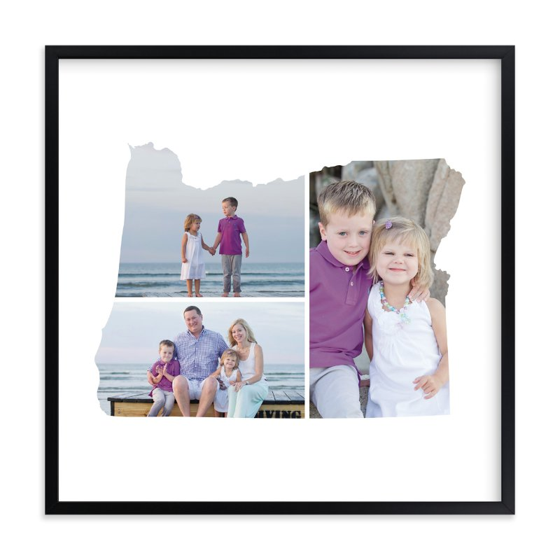 """Oregon Love Location"" - Custom Photo Art Print by Heather Buchma in beautiful frame options and a variety of sizes."