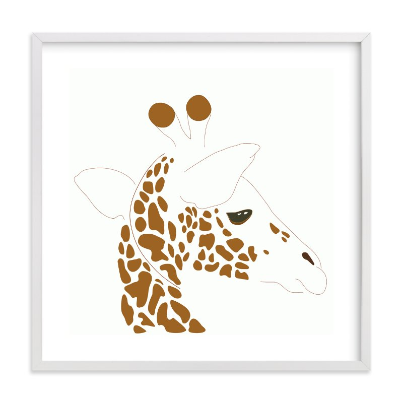 """Hello Giraffe!"" - Art Print by Gaucho Works in beautiful frame options and a variety of sizes."