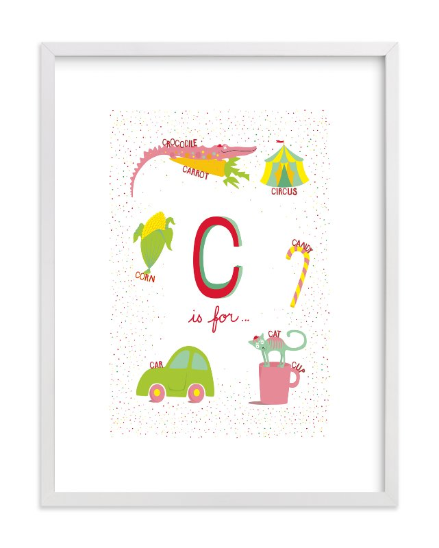 """C is For.."" - Limited Edition Art Print by Tereza Šašinková Lukášová in beautiful frame options and a variety of sizes."