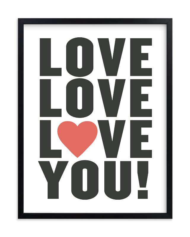 """Love You!"" - Limited Edition Art Print by Max and Bunny in beautiful frame options and a variety of sizes."