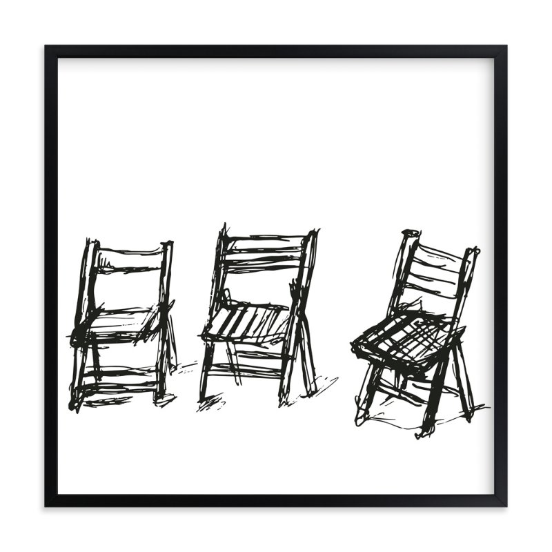 """""""Three Chairs"""" - Art Print by Michael Hovitch in beautiful frame options and a variety of sizes."""