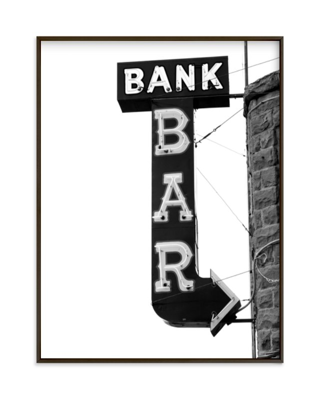 """Bank Bar"" - Art Print by Calais Le Coq in beautiful frame options and a variety of sizes."