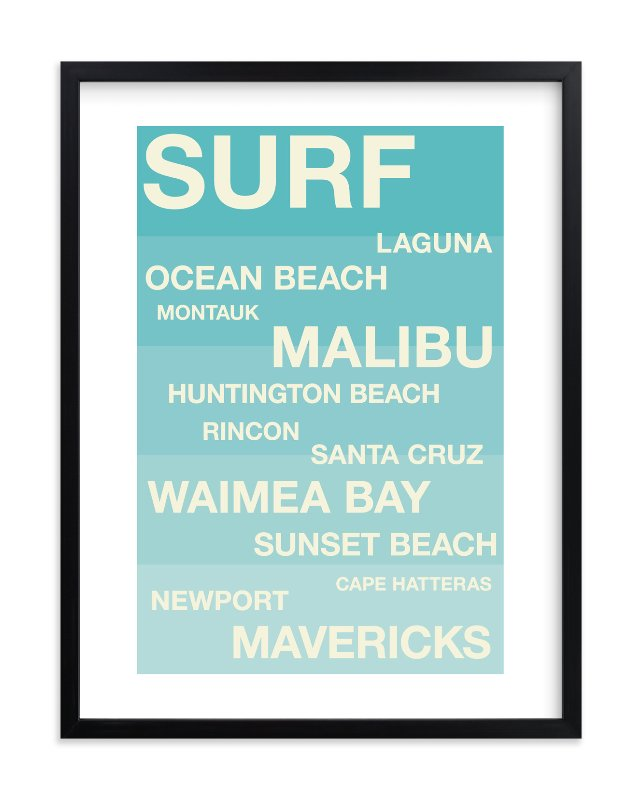 """Surf Hot Spots"" - Children's Custom Art Print by Jennifer Cooper in beautiful frame options and a variety of sizes."