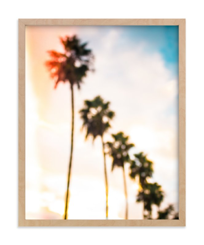 """LA Palms"" - Art Print by Kate Baird in beautiful frame options and a variety of sizes."