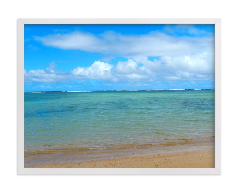 """""""Calm Hawaii"""" - Art Print by Jan Kessel in beautiful frame options and a variety of sizes."""