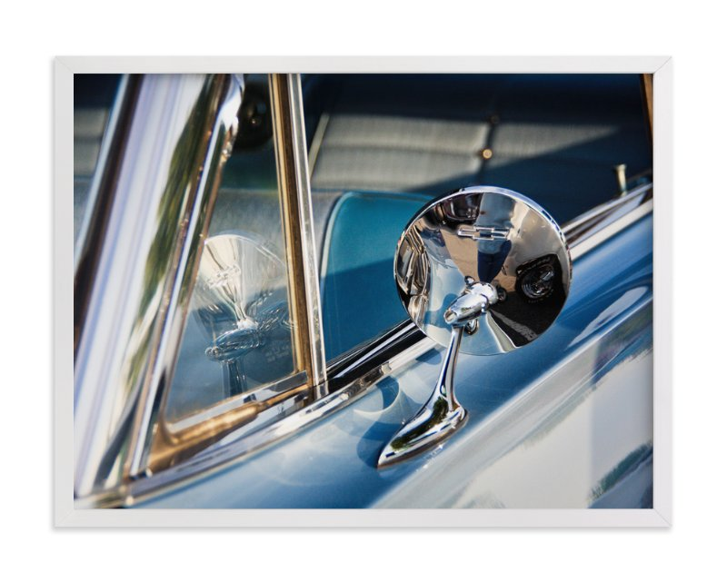 """Blue and Chrome"" - Art Print by Donna Rosser in beautiful frame options and a variety of sizes."
