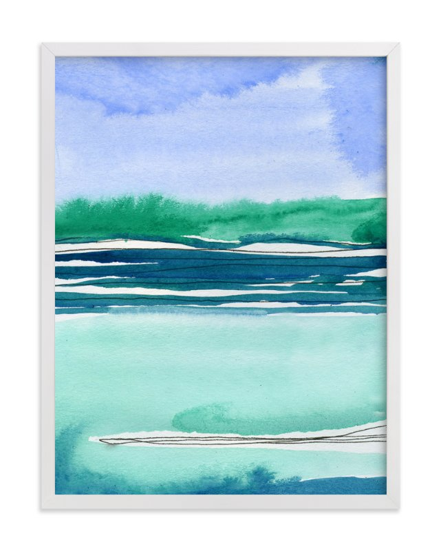 """Out To Sea II"" - Art Print by Chelsey Scott in beautiful frame options and a variety of sizes."