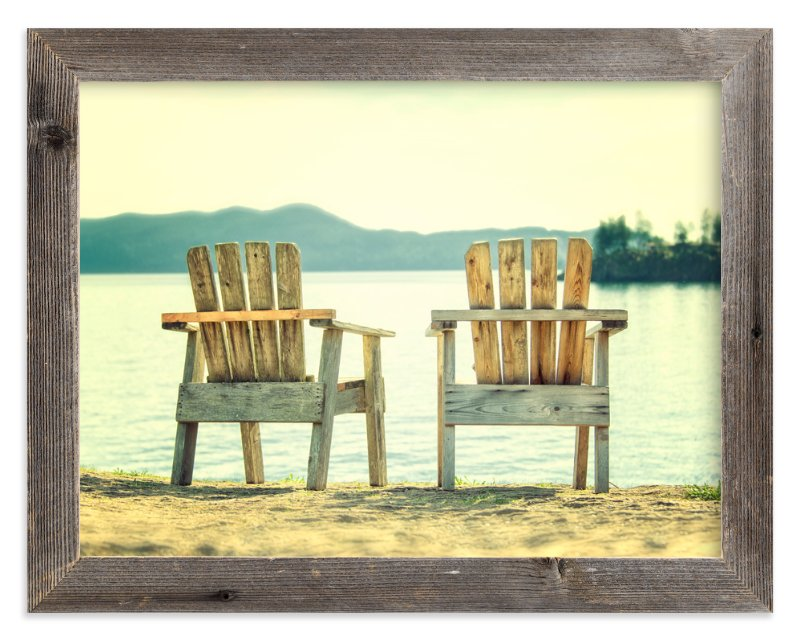 """""""Sit For Awhile"""" - Art Print by Michelee Scott in beautiful frame options and a variety of sizes."""