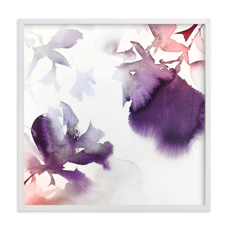 """Spring in Purple"" - Art Print by Marta Spendowska in beautiful frame options and a variety of sizes."