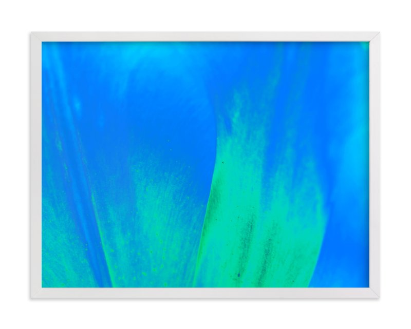 """""""Pattern in green-blue"""" - Art Print by NSMARK in beautiful frame options and a variety of sizes."""