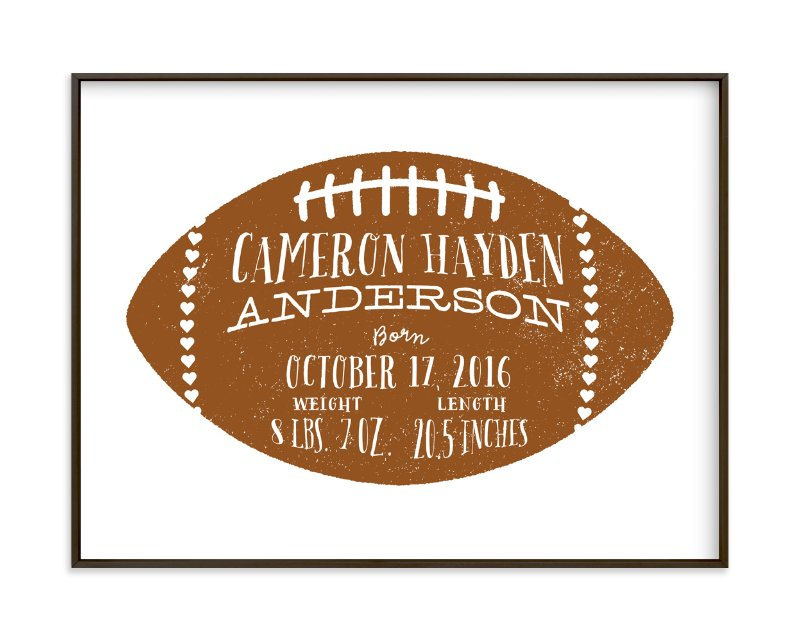 """Football Stats"" - Children's Custom Art Print by Laura Bolter Design in beautiful frame options and a variety of sizes."