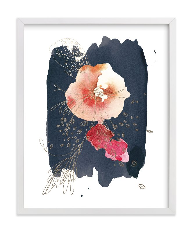 """Fleur"" - Foil-pressed Art Print by Kelly Ventura in beautiful frame options and a variety of sizes."
