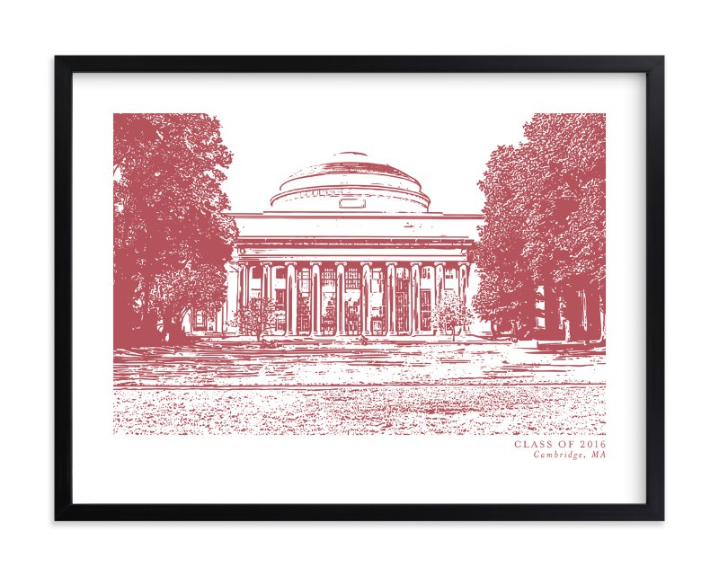 """""""School Series – Cambridge, MA"""" by Minted in beautiful frame options and a variety of sizes."""
