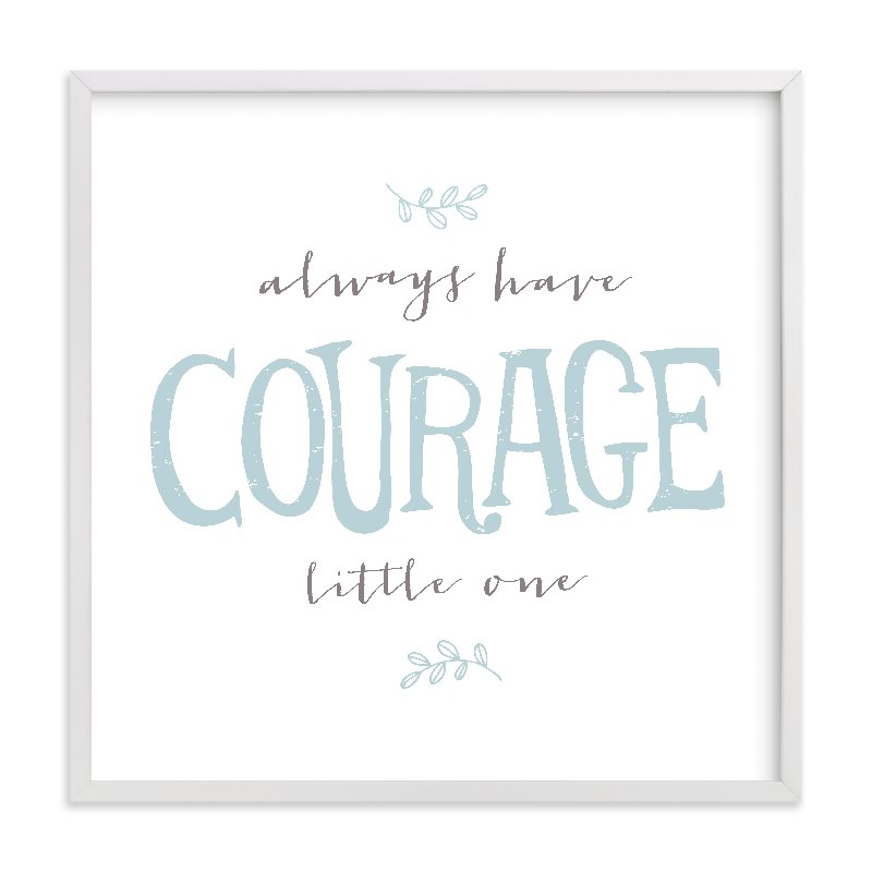 """Courage"" - Limited Edition Art Print by Kristen Smith in beautiful frame options and a variety of sizes."